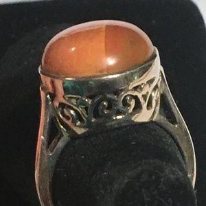 Genuine Mookaite Jasper Hi-Profile 925 Silver Ring